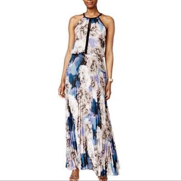 befdf727 ... XSCAPE Chiffon Pleated Halter Maxi Dress. M_5b1d89b66a0bb73ef12c2f38